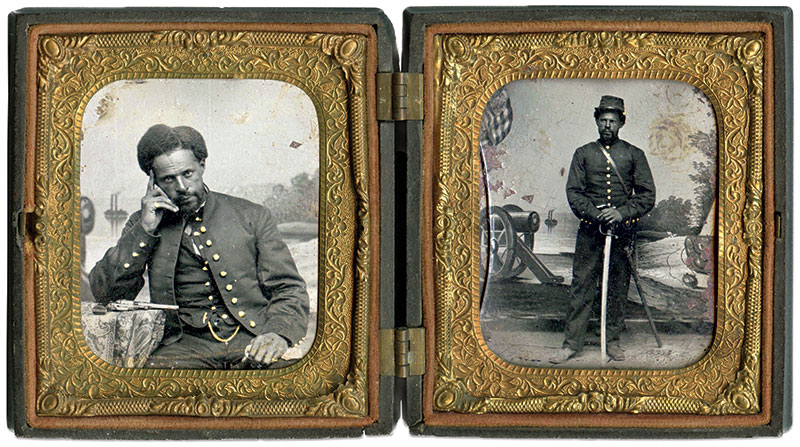 Sixth-plate tintypes by an unidentified photographer.  Adam Ochs Fleischer Collection.