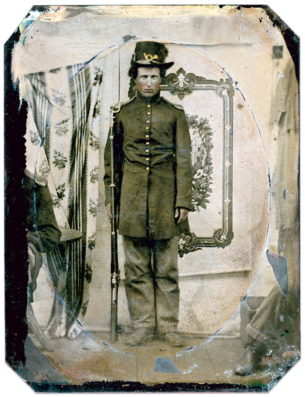 """""""1862"""" is scratched on the back of the plate. Quarter-plate tintype by an unidentified photographer. Ron Field Collection."""