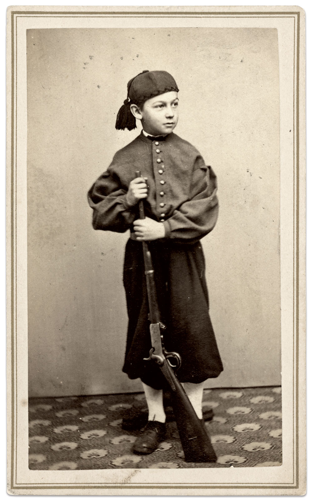 """Inscribed: """"Clarence Ford, son of Dwight Ford."""" Carte de visite by Wayland & McMillan of Providence, R.I. Charles Darden Collection."""