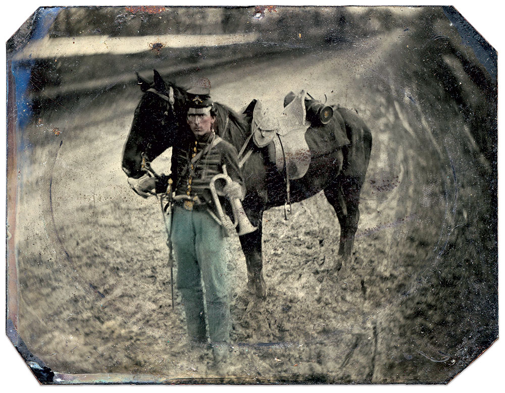 Quarter-plate tintype by an unidentified photographer. David Holcomb Collection.