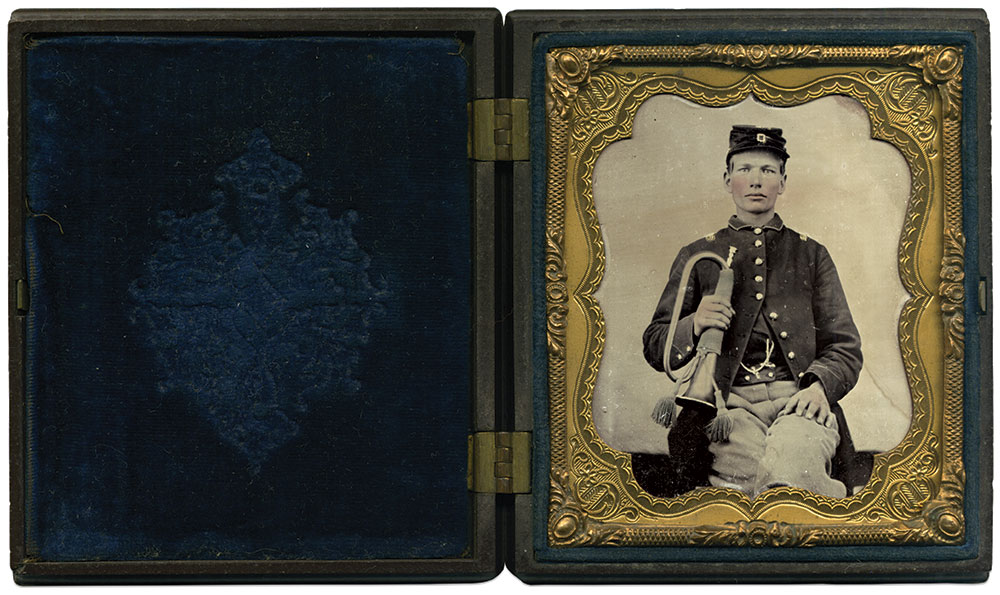 Sixth-plate ambrotype by an unidentified photographer. Kevin Canberg Collection.