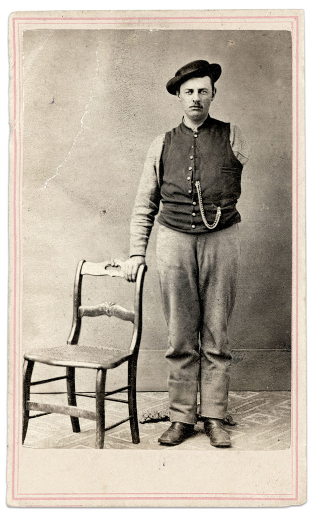 Carte de visite by Joshua Appleby Williams of Newport, R.I., from Lovell General Hospital in Portsmouth Grove, R.I. Author's collection.