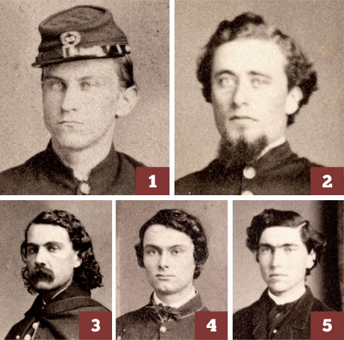 First group: Hospital Stewards Johnston (#1) and Cheney (#2) left York to become company officers in infantry regiments. Coombs (#3), Case (#4), and Martin (#5) gained admission to York as patients suffering illness.