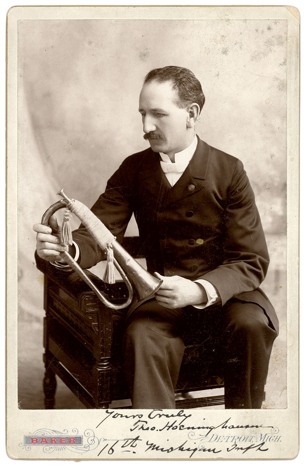 Cabinet card by C. Russell Baker of Detroit, Mich. Chris Nelson Collection.