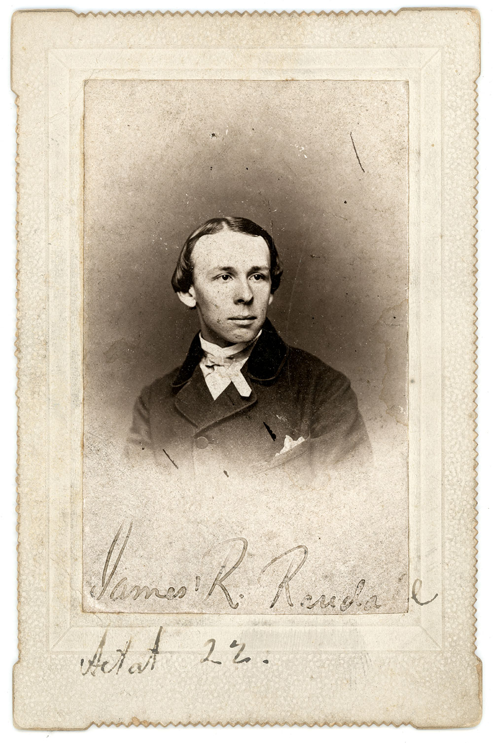 Randall pictured about the time he wrote the poem that became a popular tune in 1861. Albumen print by an unidentified photographer. John O'Brien Collection.