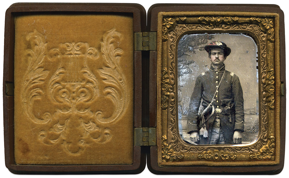Ninth-plate ruby ambrotype by an unidentified photographer. David Yunt Collection.