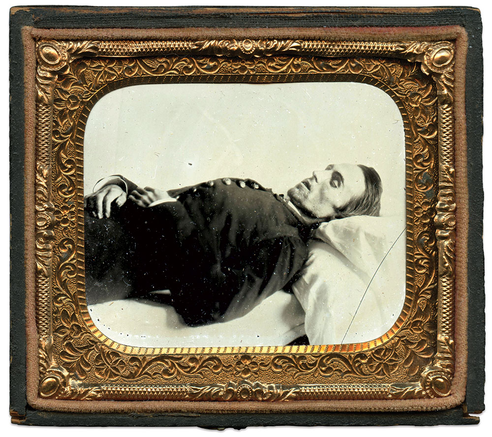 Sixth plate ambrotype by an unidentified photographer. Rick Brown Collection of American Photography.